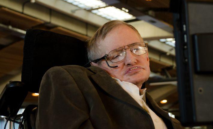 Stephen Hawking en Times Square