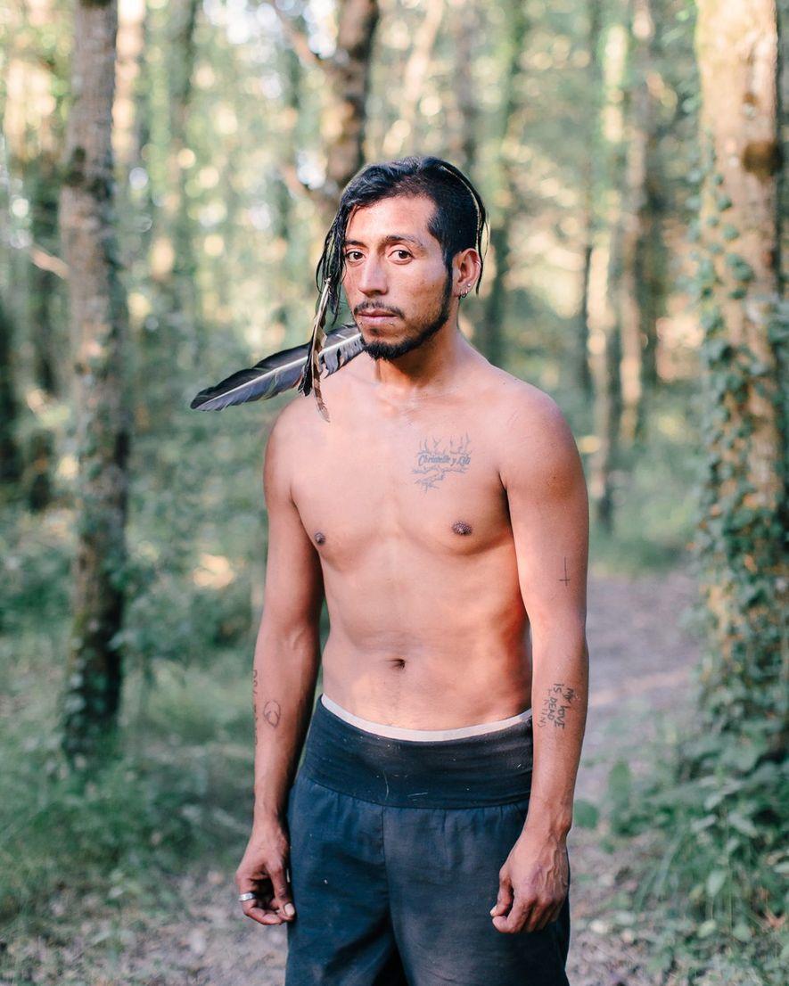 Gregorio, uno de los habitantes del colectivo Far West. Hay 50 colectivos diseminados en la zona …