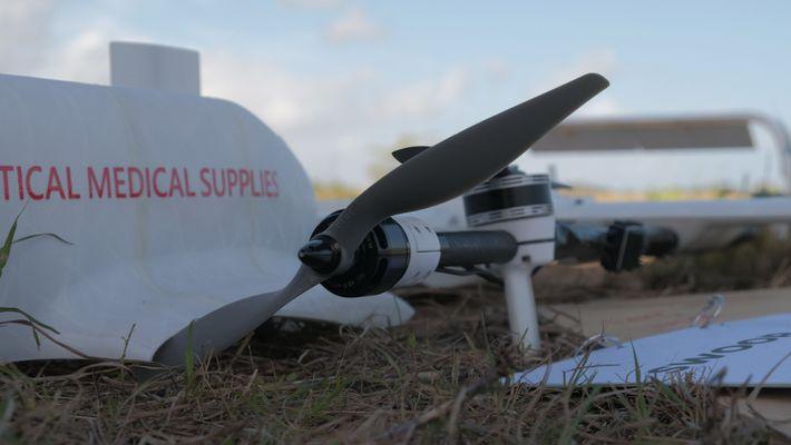 Primera vacuna dron Unicef