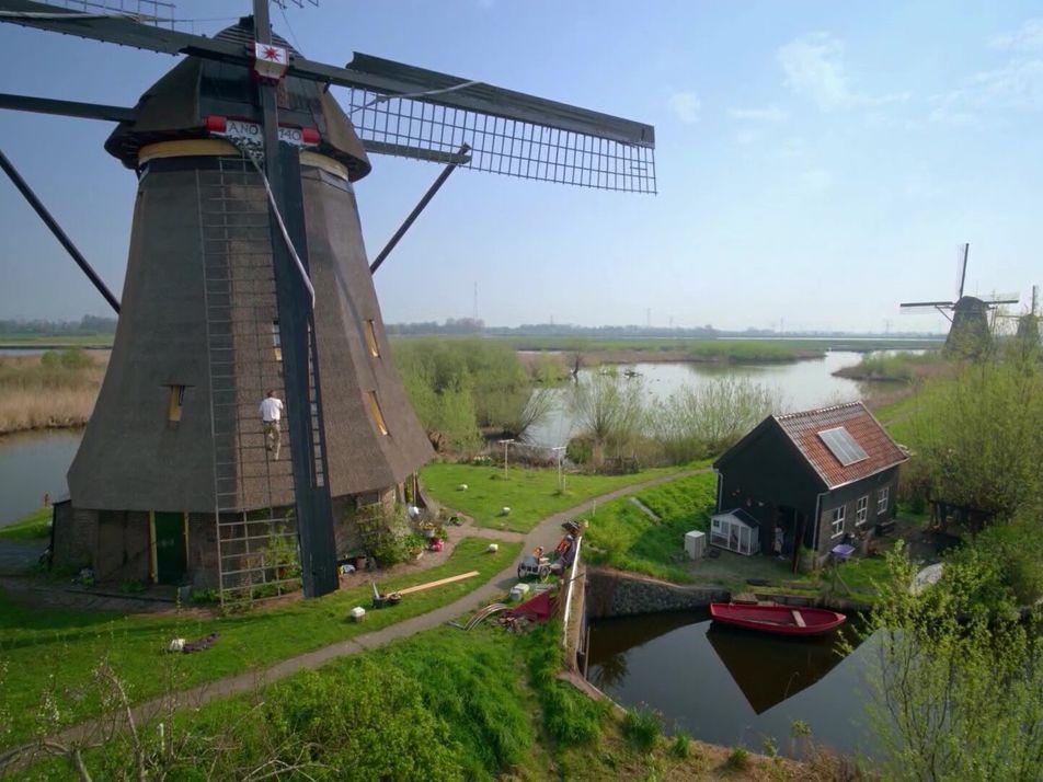 Los molinos históricos de los Países Bajos son iconos nacionales