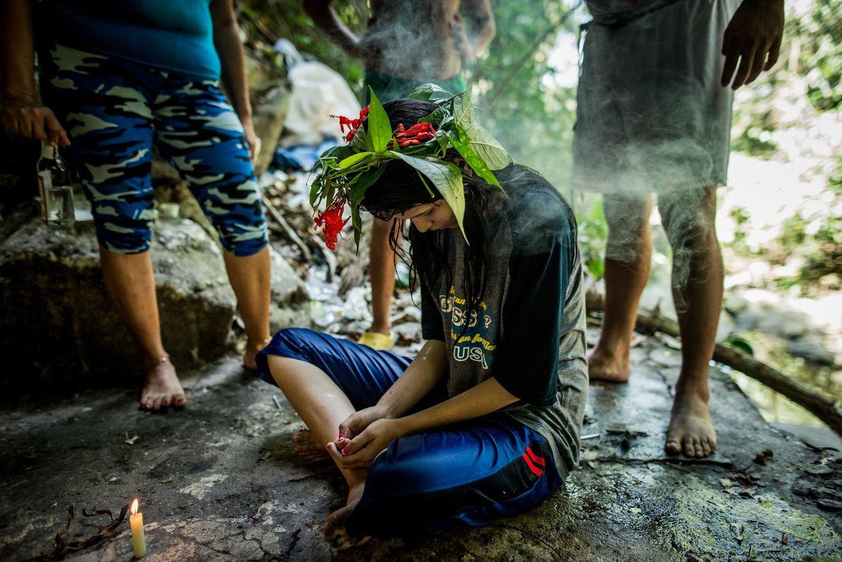 Ceremonia en la montaña de Sorte