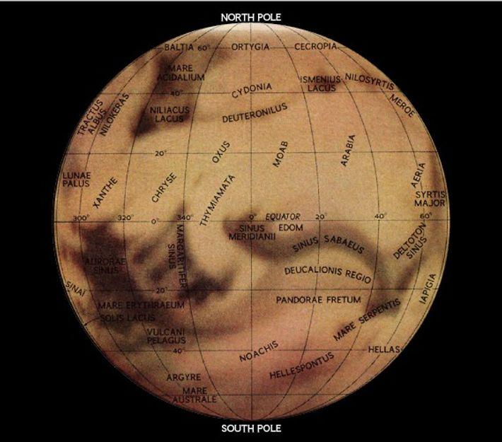 Hemisferio occidental de Marte, 1967