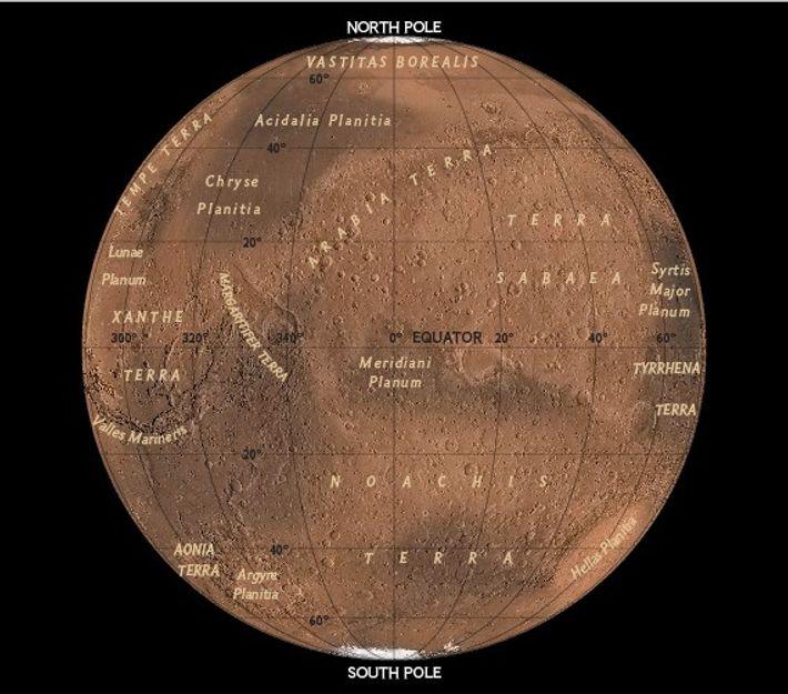 Hemisferio occidental de Marte, 2017