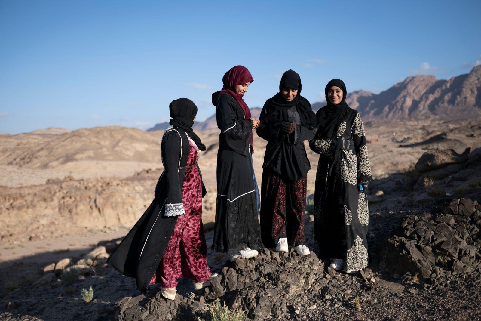 Nora Mohamed, Nadia Mohamed, Hoda Mohamed y Mariam Ibrahim