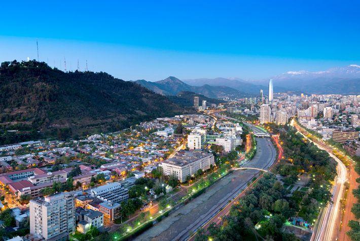 Imagen del barrio de Bellavista en Santiago de Chile