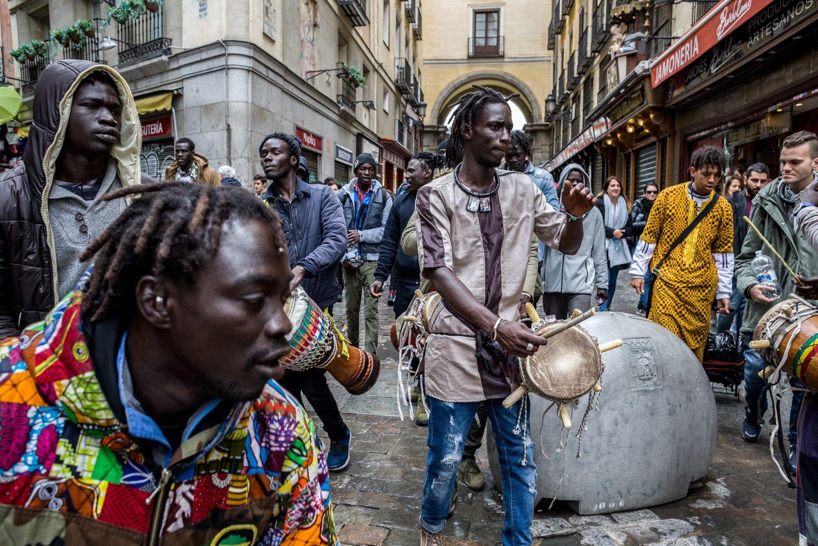 Inmigrantes senegaleses