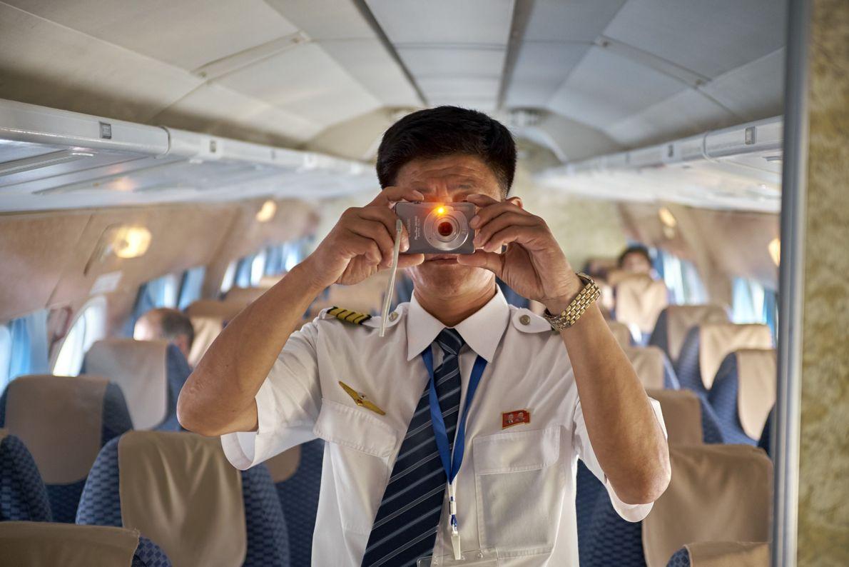 Un piloto saca una foto
