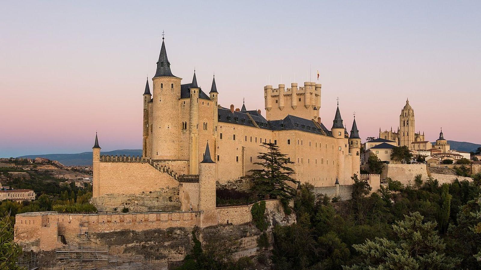 Europa desde el cielo Alcázar de Segovia