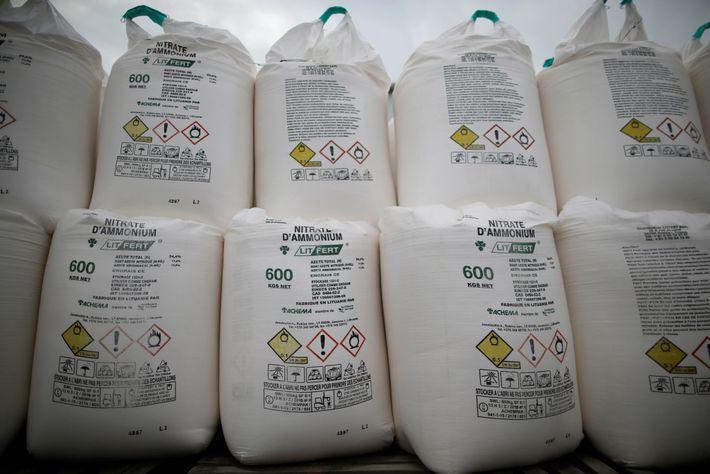 Fertilizante con nitrato de amonio