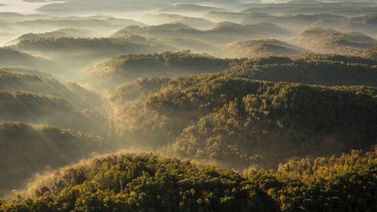 Los montes Apalaches del sudeste de Estados Unidos