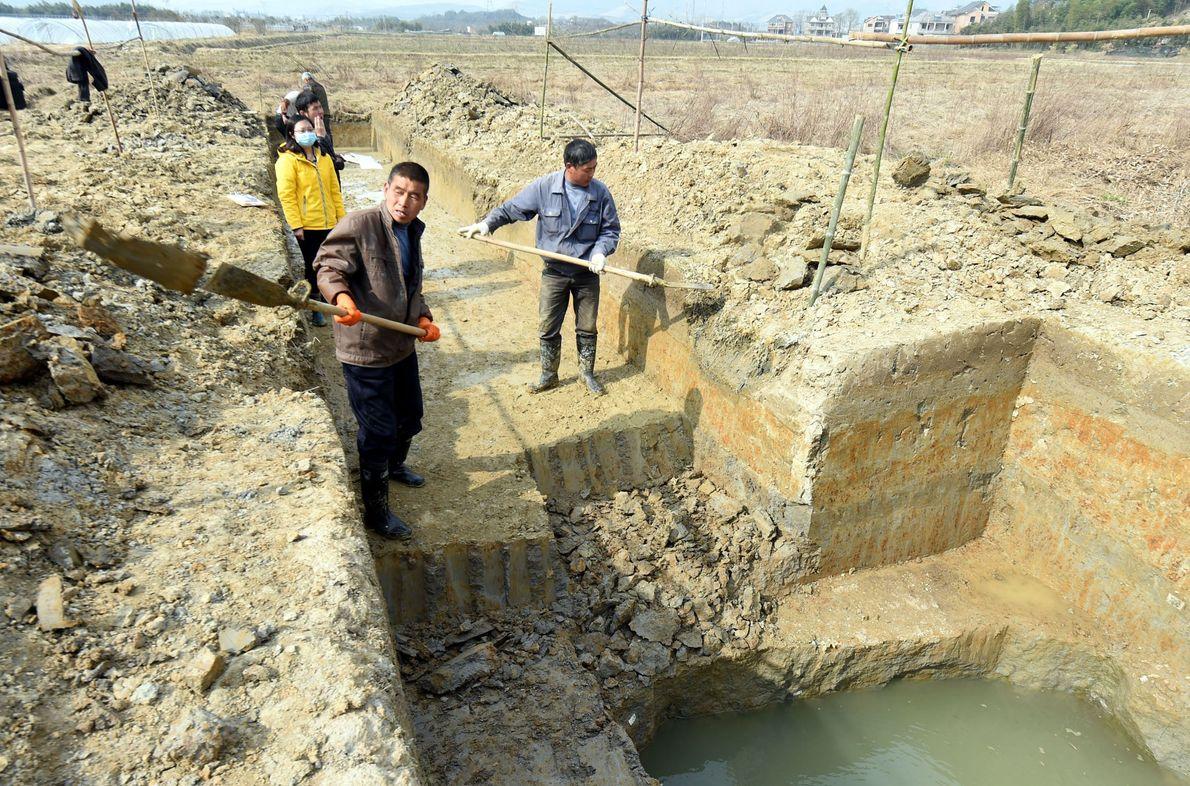 Vestigios arqueológicos de la ciudad de Liangzhu, China