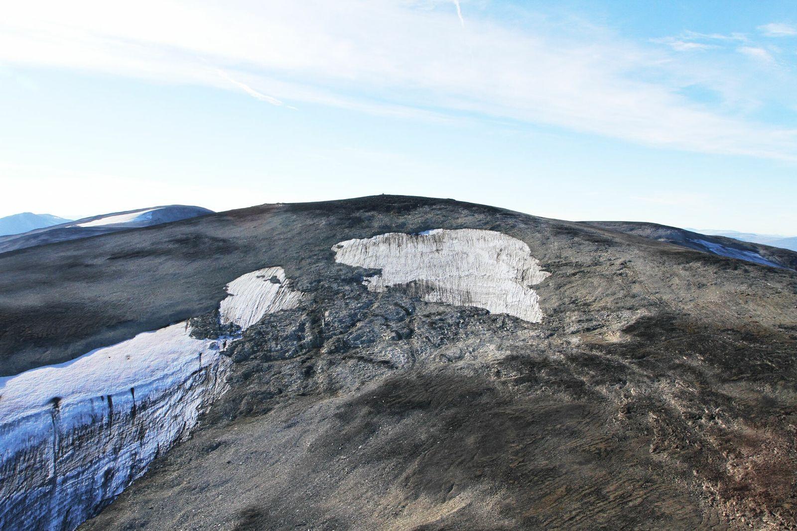 Fotografía del manchón de hielo de Langfonne