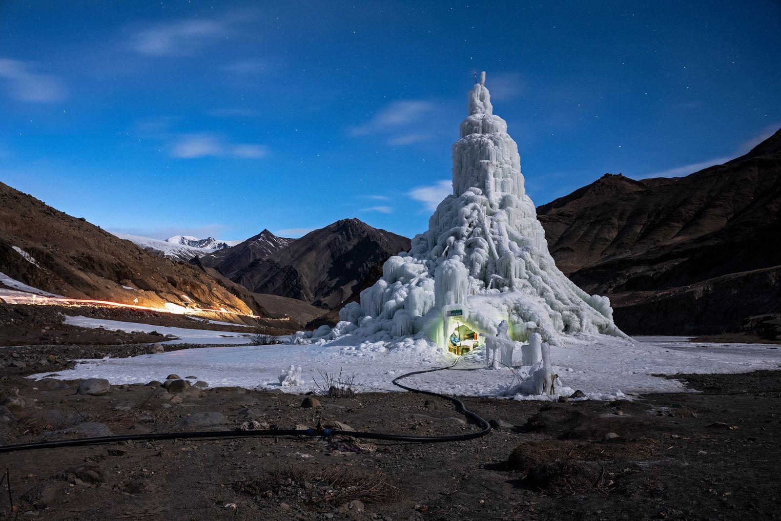 Las estupas de hielo: un método para combatir el cambio climático