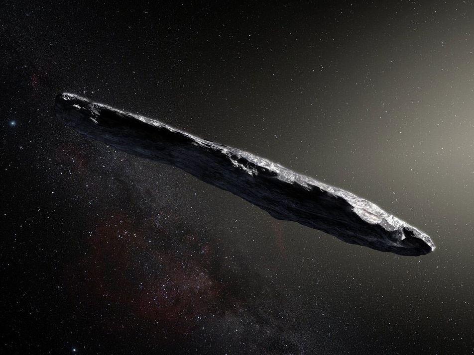 El primer objeto interestelar observado en nuestro sistema solar tiene una forma muy inusual