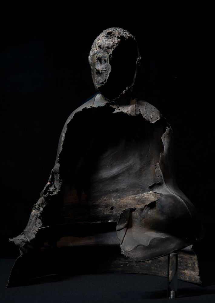 Fotografía de un Buda fundido
