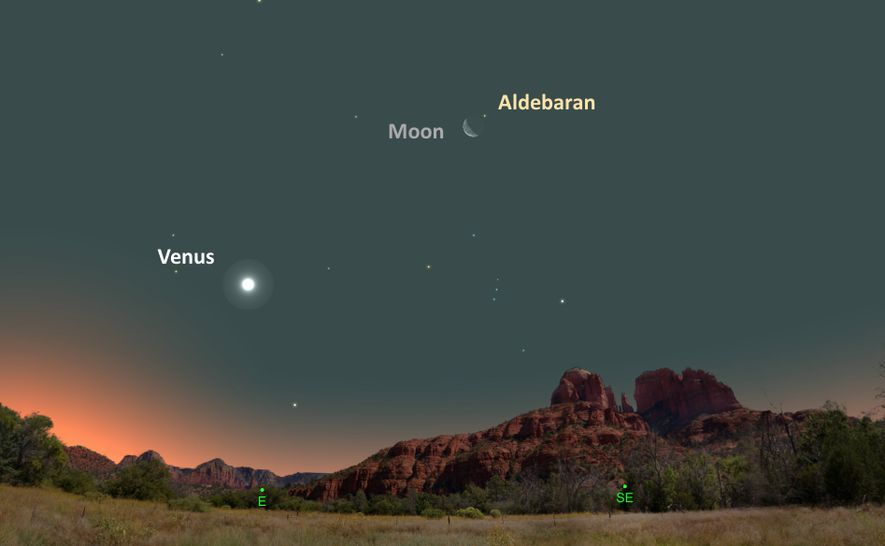 La Luna y Aldebarán