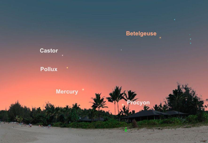 El 9 de agosto disfrutaremos de las mejores condiciones de observación de Mercurio, que aparecerá en ...