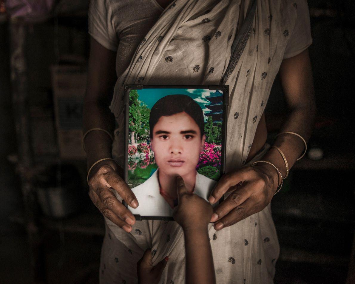 Shiv Pujan, de 30 años, en una fotografía