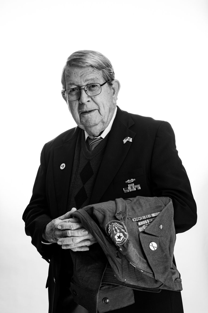 Como la mayoría de los veteranos de la batalla de las Ardenas, Vernon Brantley se mostró ...
