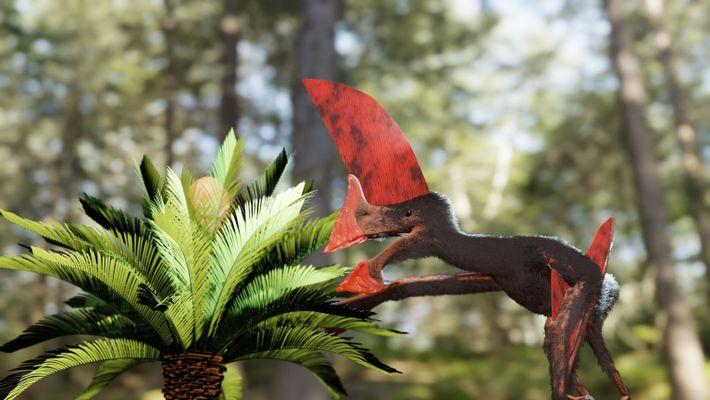 Reconstrucción de un pterosaurio