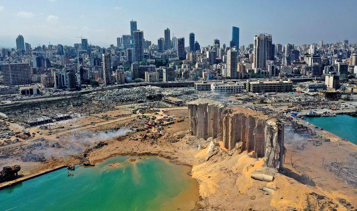 Fotografía del puerto de Beirut