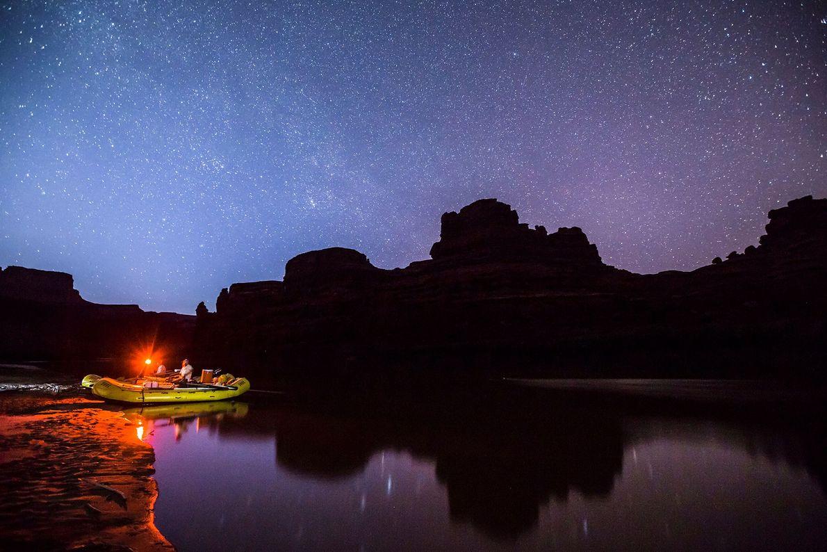El río Colorado bajo las estrellas