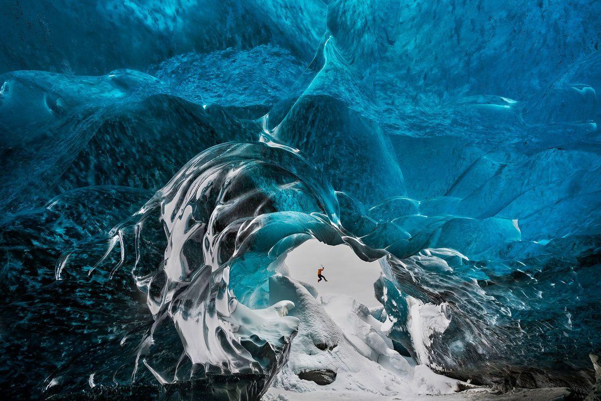 Crystal Cave, glaciar Vatnajokull, Islandia