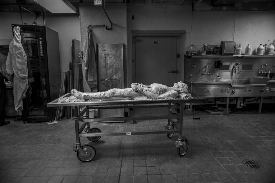 Aurora, Colorado  Fotografía de Susan Potter, que donó su cuerpo al Visible Human Project de la Universidad ...