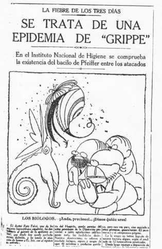 Una publicación sobre los biólogos españoles ante el microbio de la gripe española.