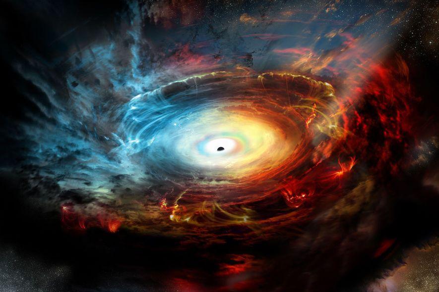 Este agujero negro supermasivo en el centro de nuestra galaxia se esconde tras densas nubes de polvo y gas. Con la potencia combinada de una red mundial de radiotelescopios, los astrónomos esperan poder echar un vistazo al corazón de nuestra galaxia y capturar -por primera vez- los límites de un agujero negro. Cuando esta red observa las ondas de radio con una longitud de onda de 1 milímetro, su poder de aumento es lo suficientemente alto para observar detalles en las fronteras del agujero negro.