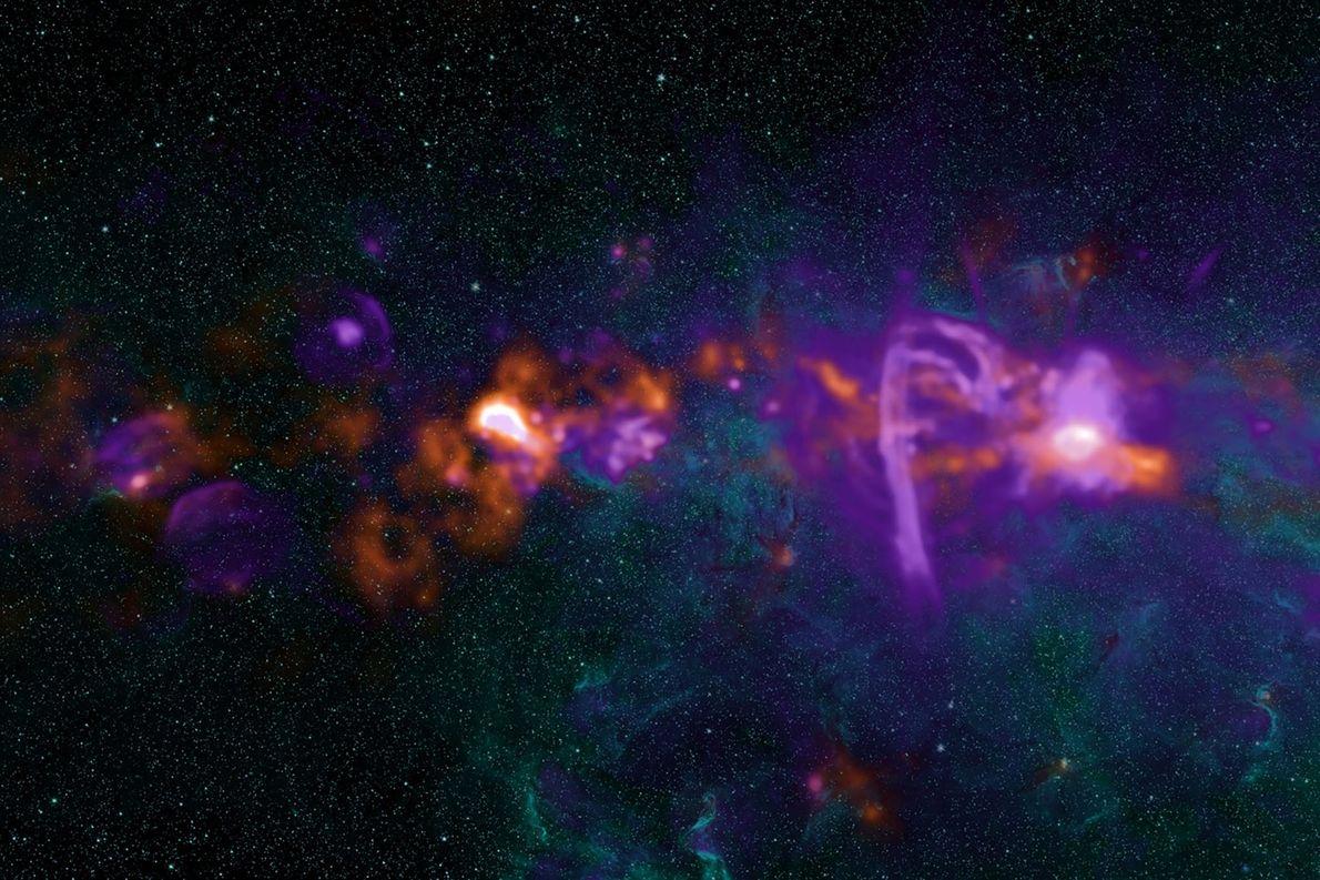 Una vista más cercana de la región central de la Vía Láctea, donde reside el agujero …