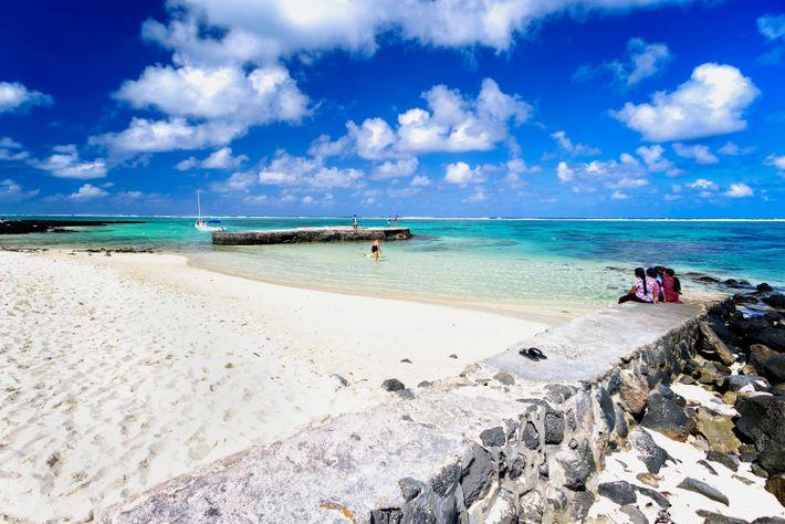 Imagen de Blue Bay Beach en Mahebourg, Mauricio