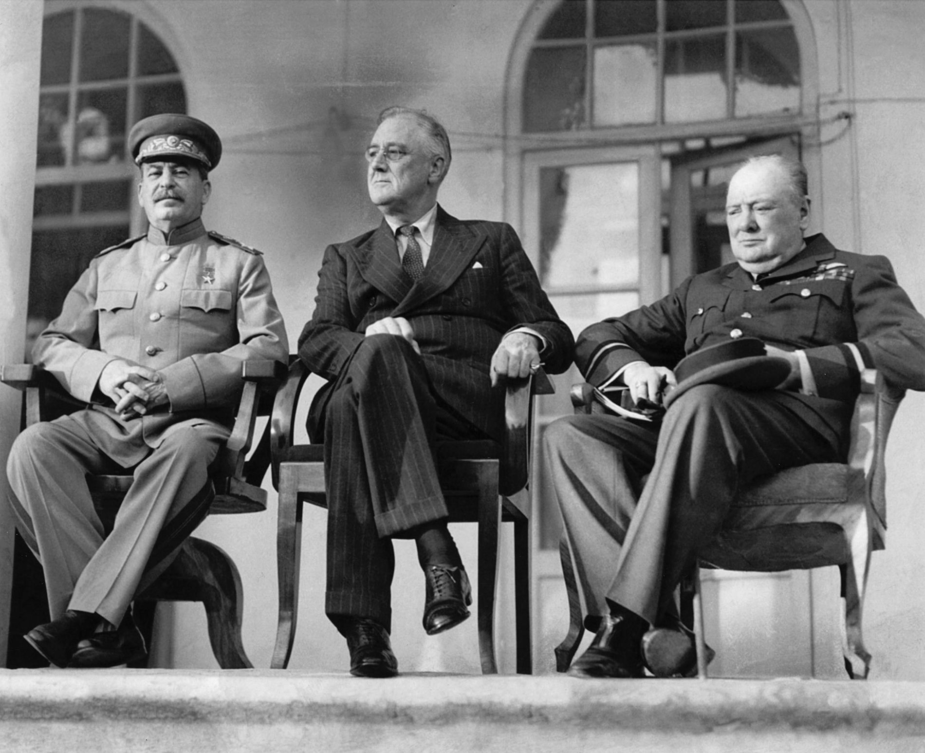 Joseph Stalin, Franklin Roosevelt y Winston Churchill
