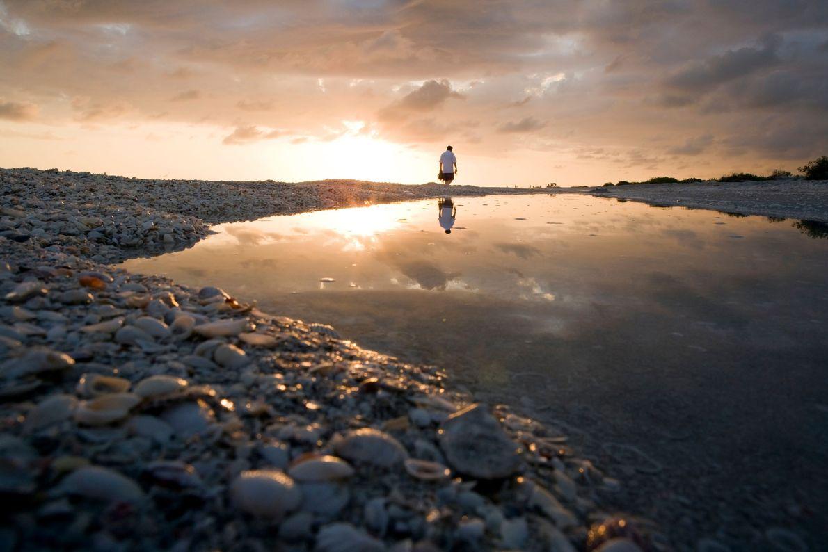 Imagen del crepúsculo en Bowman's Beach, Sanibel, Florida