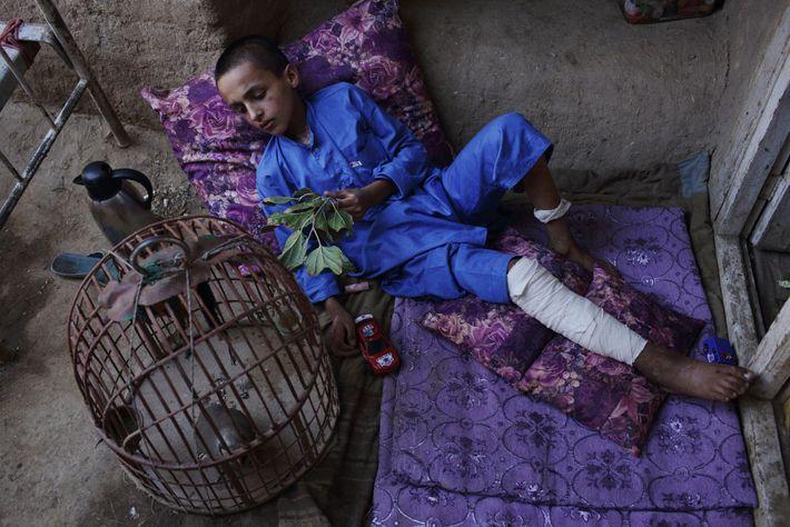 Niño en Kabul, Afganistán