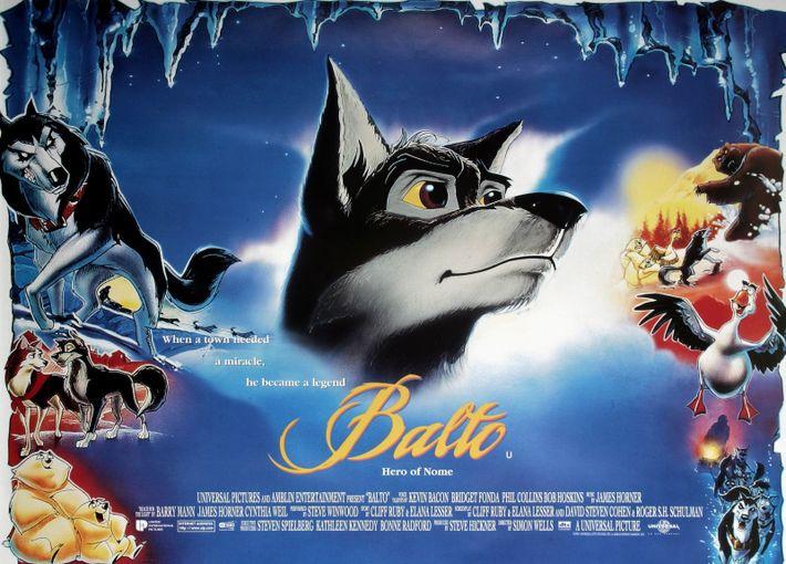 La película de dibujos animados Balto