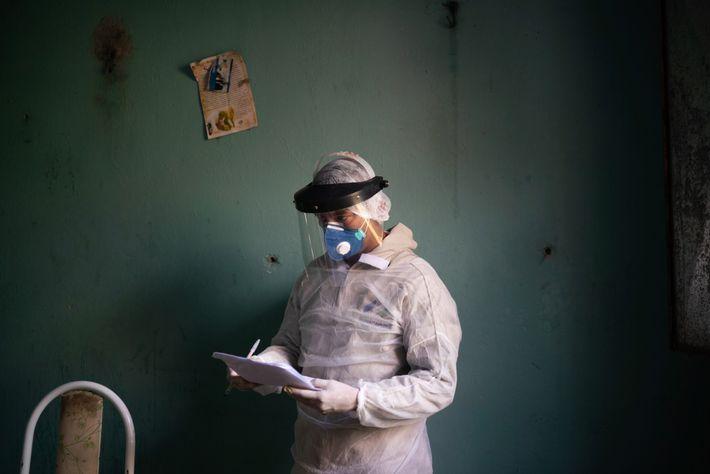 Trabajador sanitario del gobierno