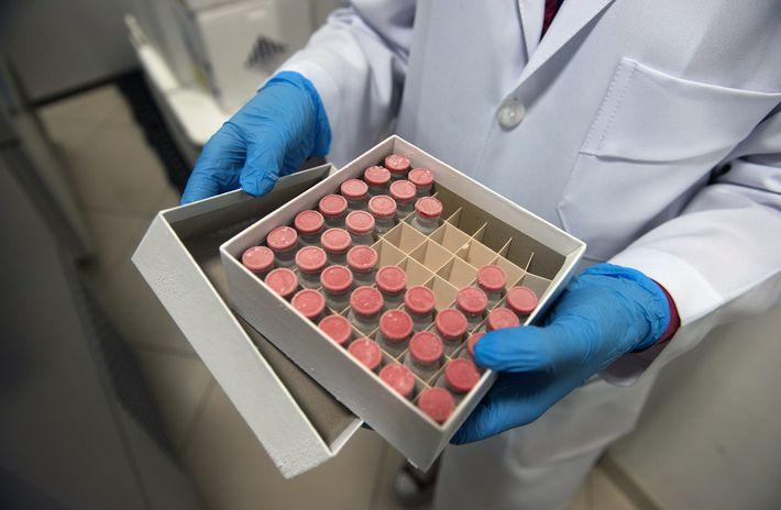 Fotografía de muestras de la vacuna