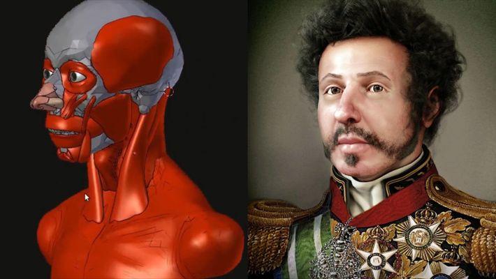Reconstruido en 3D el rostro del primer emperador de Brasil