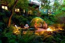 Acampada en el jardín