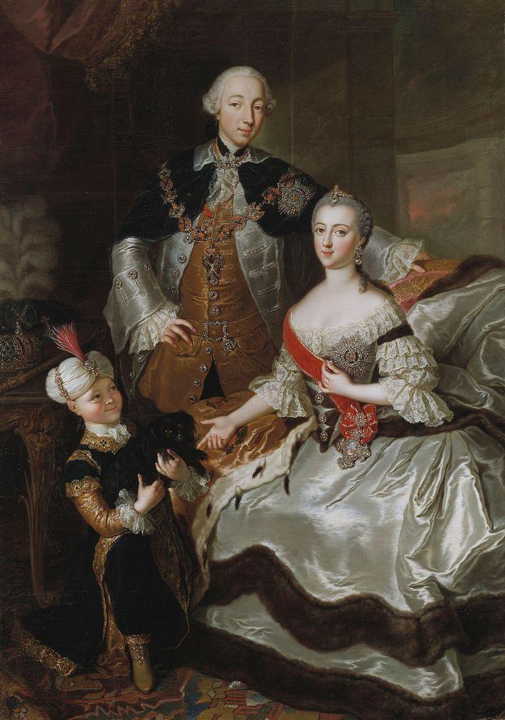 Catalina la Grande, Pedro III y Pablo I