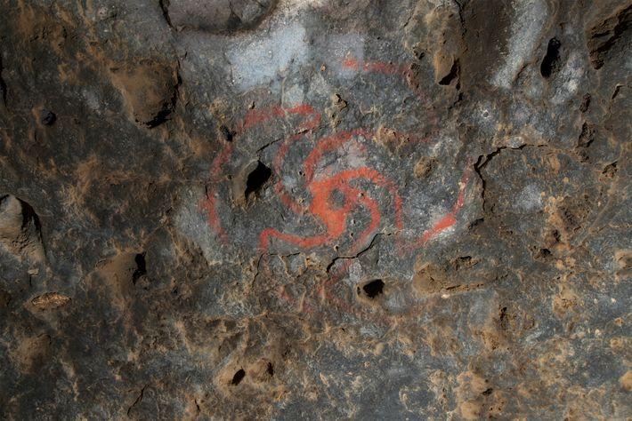 Arte de la cueva Pinwheel