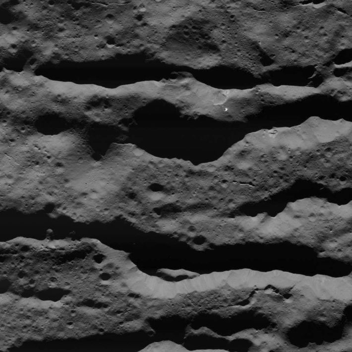 Imagen de fracturas en el cráter Occator