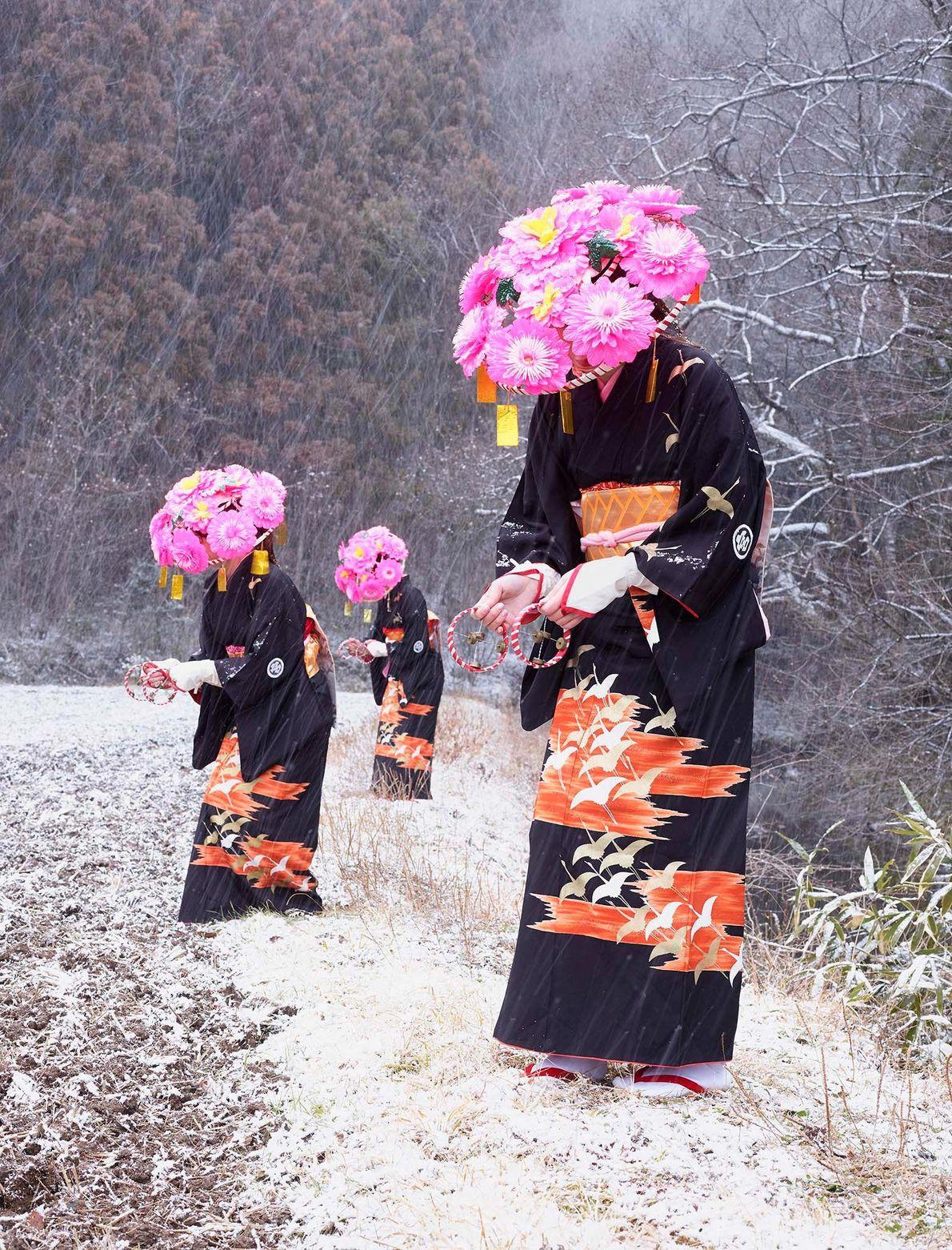 Mujeres con kimonos