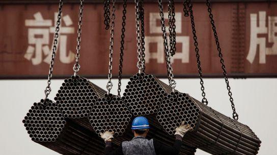 Un trabajador del acero
