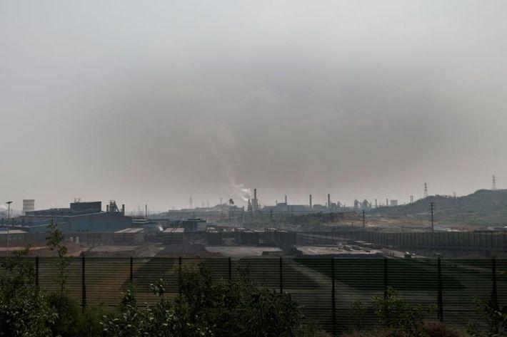El aire de Tangshan, en China