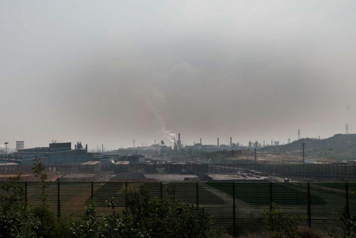 Contaminación del aire de Tangshan