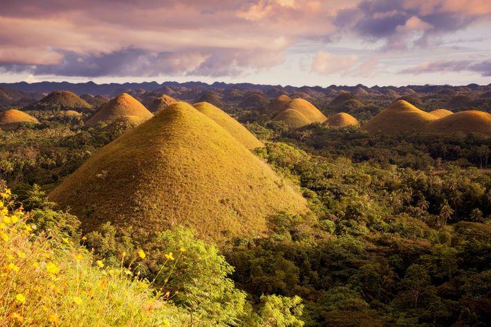Imagen de las Colinas de Chocolate en Bohol, Filipinas