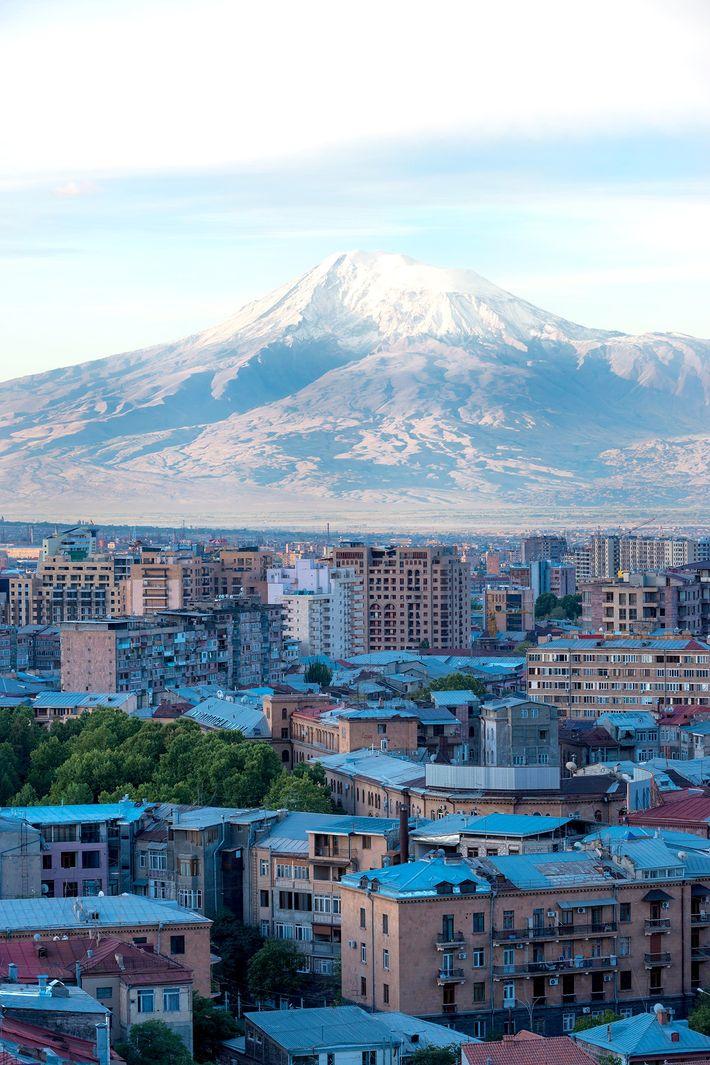 Imagen del monte Ararat, Ereván, Armenia