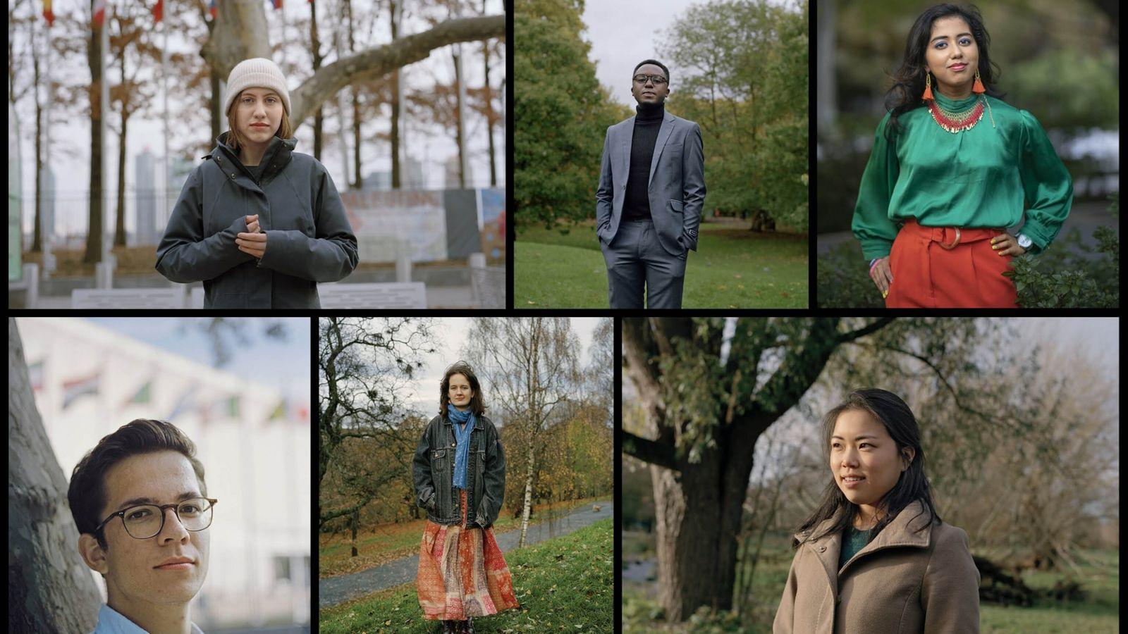 Fotografías de activistas del clima